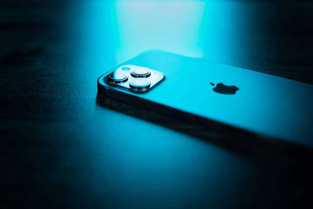 Pacific Blue iPhone 12 Pro Max Neon Lights
